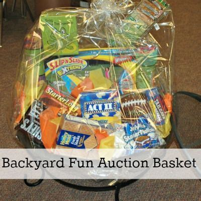 Backyard Gifts by Backyard Auction Basket Firepit Gift Basket Ideas