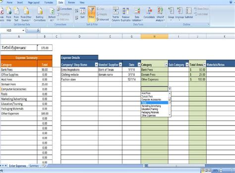 excel template business expenses oxynuxorg