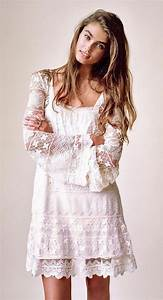 bohemian boho style hippy hippie chic boheme vibe gypsy With robe blanche hippie