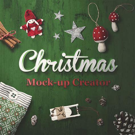 christmas mockup psd templates  bashooka