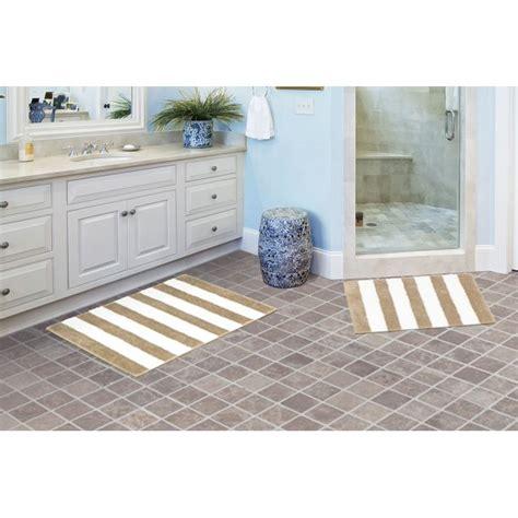 garland rug beach stripe  piece washable bathroom rug set