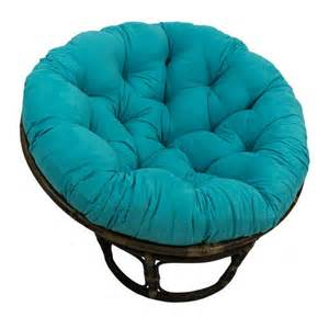 rattan papasan chair with microsuede cushion at brookstone
