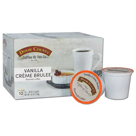 Free shipping shopping at door county coffee? Door County Coffee Vanilla Crème Brulee Flavored Specialty Single-Serve Coffee Pods, Medium ...