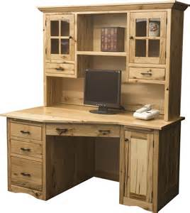 amish mission wedge desk with hutch