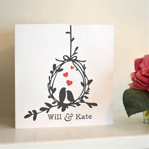 love birds personalised anniversary card  oakdene