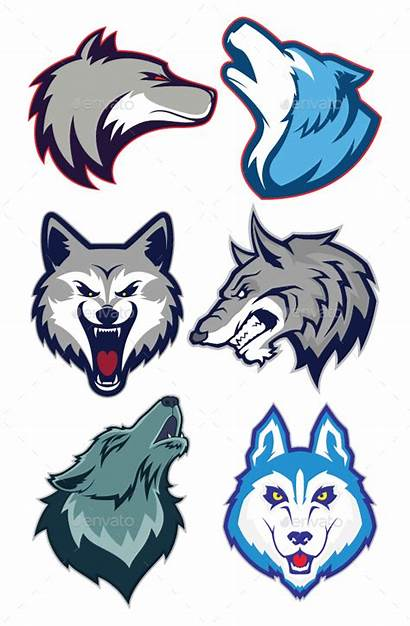 Mascot Wolf Logos Animals Lobo Esport Animal
