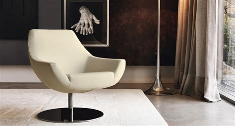 Small Armchair Leather Wraparound Model And Swivel Pod