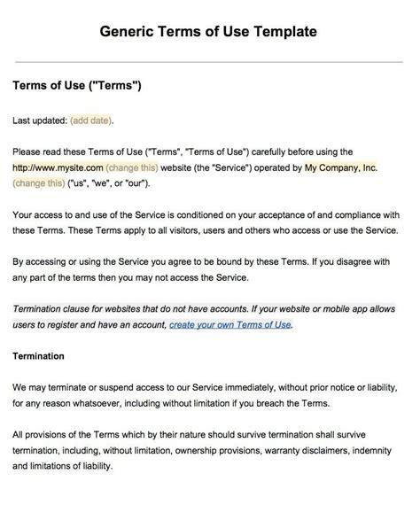 sample terms   template termsfeed