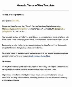 Sample terms of use template termsfeed for Term of use template
