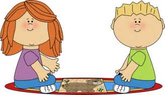 Rug Print by Kids On Rug Putting Puzzle Together Clip Art Kids On Rug