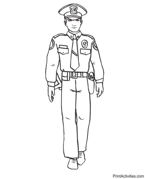 11589 policeman clipart black and white policier 3 m 233 tiers et professions coloriages 224 imprimer