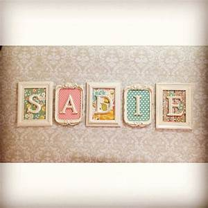 best 25 nursery name ideas on pinterest baby room With name frames from letter pictures
