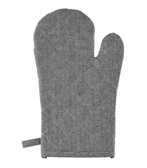 gant cuisine anti chaleur gant de cuisine anti chaleur et coton noir et blanc