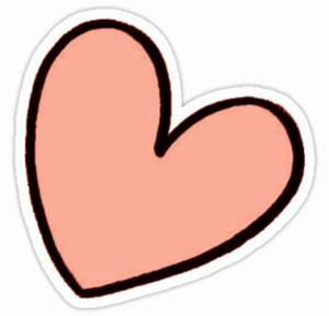 """Orange Heart Sticker tumblr"" Stickers by youtubemugs"