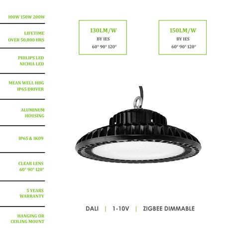 100w ufo led high bay fixture china factory manufacturer