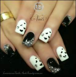 Black and white acrylic nail art : Black and white acrylic nail designs tips pictures to pin