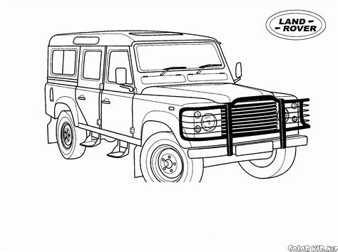 Land Rover And Jeep - Free Colouring Pages