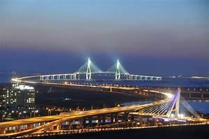 Inchon Bridge, longest bridge, new, in South Korea. Takes ...
