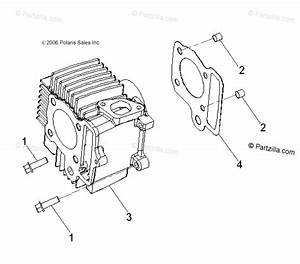 Polaris Atv 2008 Oem Parts Diagram For Engine  Cylinder