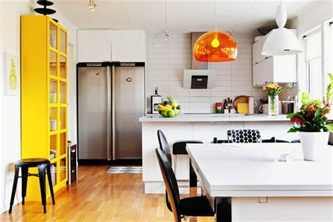 black white and yellow kitchen live here eat that black and white this little street this little street