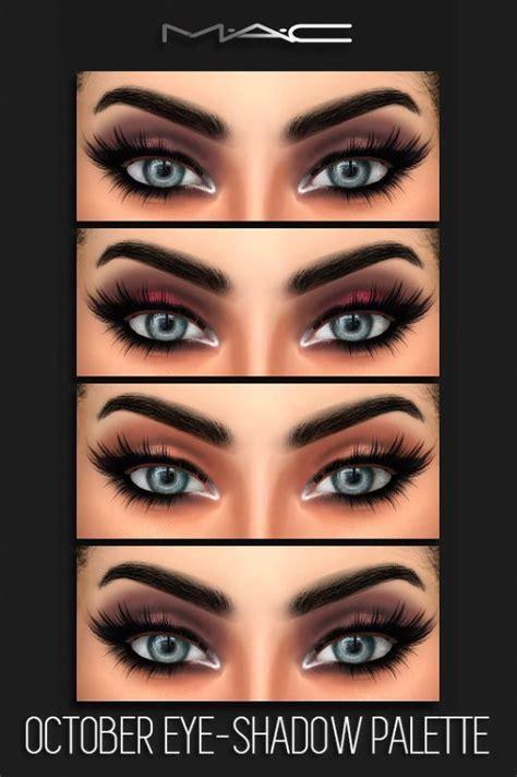 mac cosimetics october eye shadow palette sims
