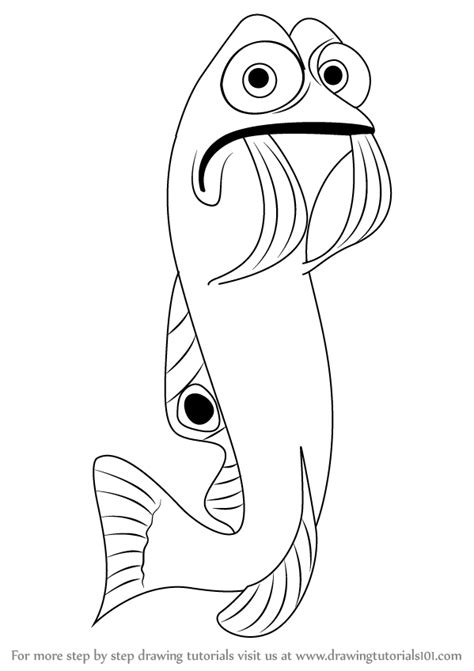 learn   draw gurgle  finding nemo finding nemo step  step drawing tutorials