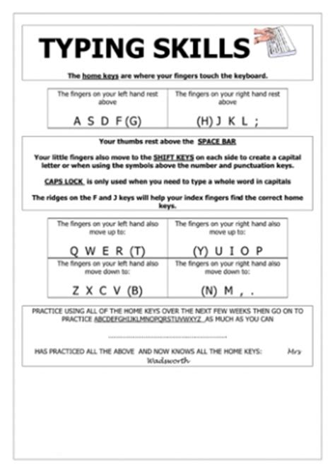 images printable typing lessons worksheets  games