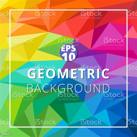 Abstract Geometric Low Polygon Colorful Background