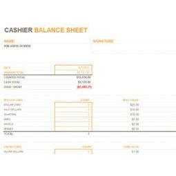 register balance sheet monthly daily cash register balance sheet in ex