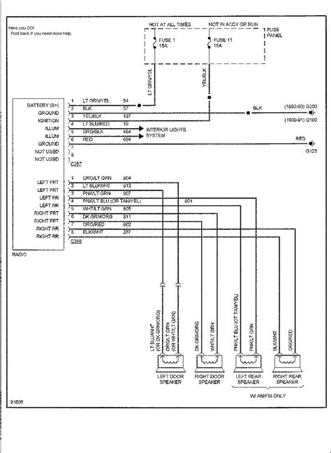 Ford Radio Wiring Diagram Webtor
