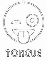 Tongue Coloring sketch template