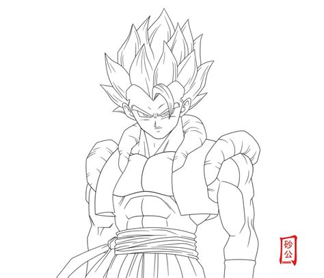 Gogeta - Free Coloring Pages