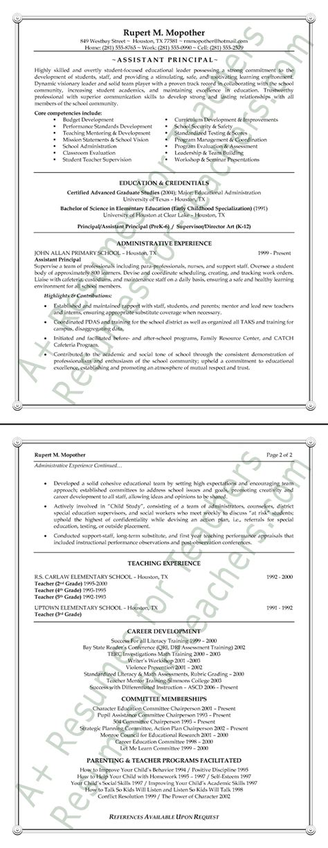 assistant principal resume doc 28 images new assistant