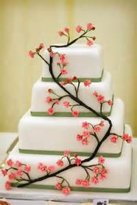 Japanese Cherry Blossom Wedding Cake