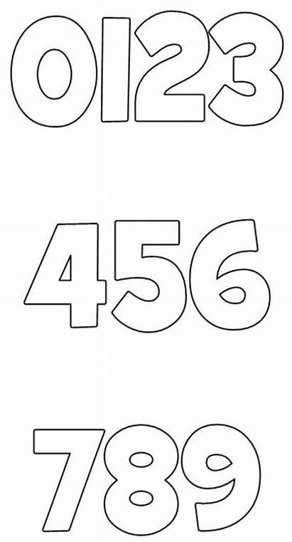 Numbers Printable Block Letters Stencils Templates