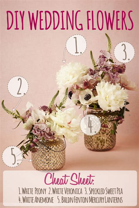 diy peony wedding flower centerpiece recipe