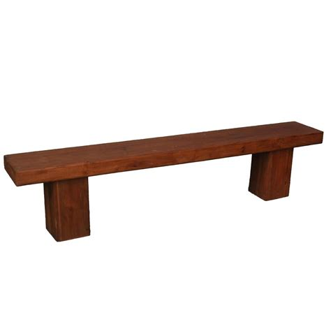 "Contemporary Solid Wood 79"" Long Dining Bench"