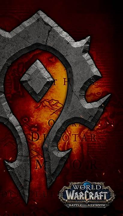 Warcraft Azeroth Battle Horde Wallpapers Symbol Wow