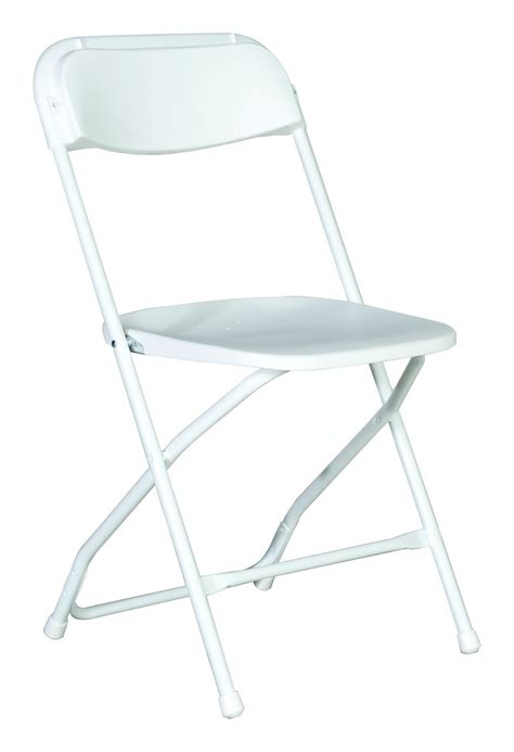 white plastic folding chair a grand affair rentals