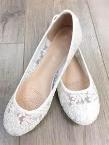 white ballet flats wedding wedding shoes bridesmaid shoes white lace flats