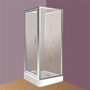 poser une cabine de douche douche With poser une porte de douche