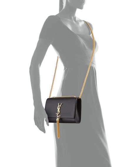 saint laurent kate monogram ysl small tassel shoulder bag  golden hardware neiman marcus