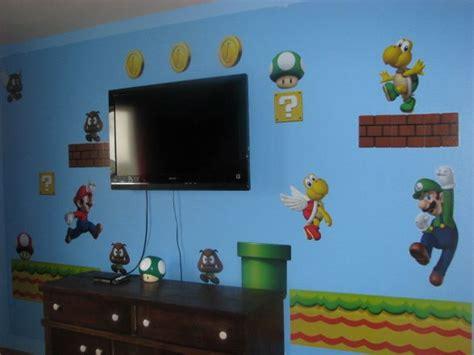 Super Mario Room Super Mario Bedroom Makeover Boys