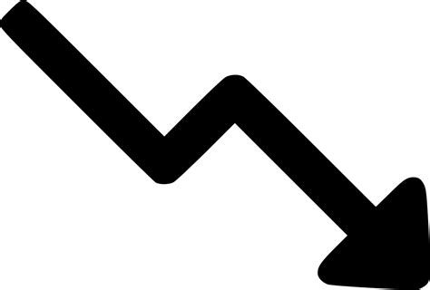 Trending Down Arrow Up Decrease Svg Png Icon Free Download