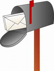 Mailbox with letters free clip art for Letter mailbox