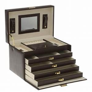 Boite A Bijoux Grande : grande boite bijoux simili cuir de couleur marron ~ Teatrodelosmanantiales.com Idées de Décoration