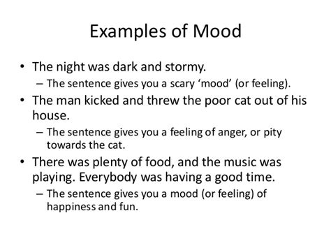 examples  tone  mood  poetry mood poems