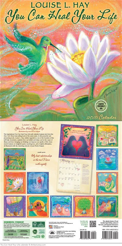 heal life wall calendar calendars louise hay