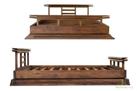 14252 asian platform bed kondo teak platform bed