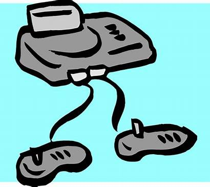 Console Clipart Clip Controller Cartoon Games Computer
